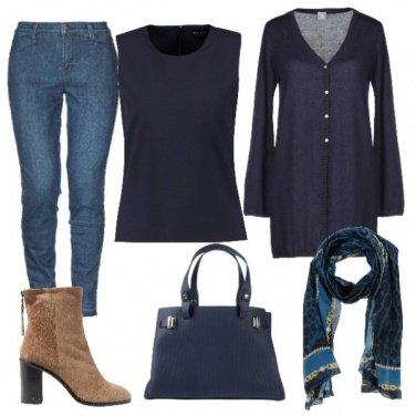 Outfit Cardigan blu
