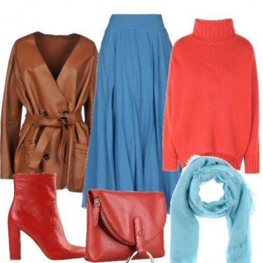 Outfit Dolcevita rosso