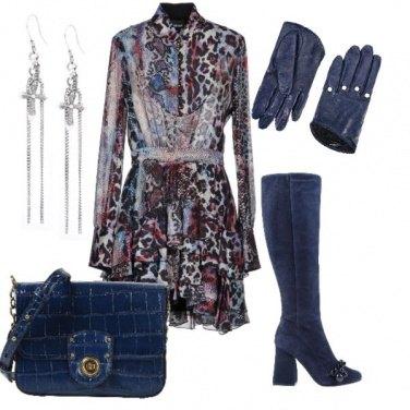 Outfit Blu per il giorno e per la sera