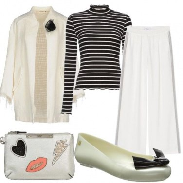 Outfit Low-cost black and White