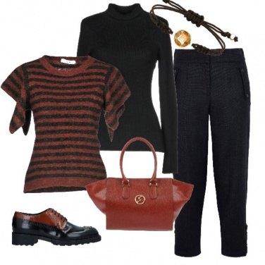 Outfit Nero e terra di siena bruciata