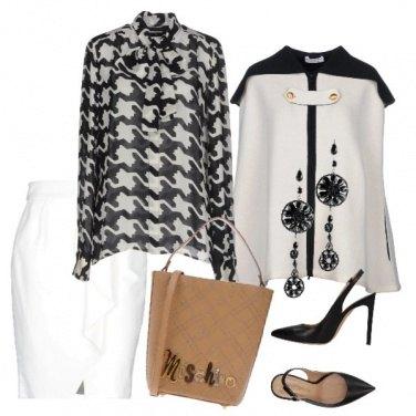 Outfit Camicia in piedipull con fiocco