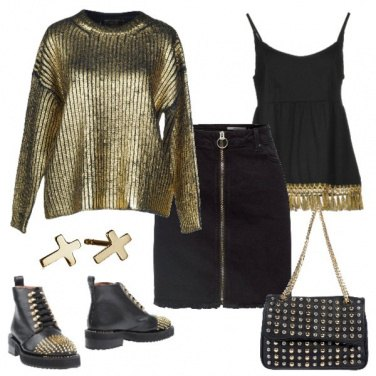 Outfit Serata easy gold
