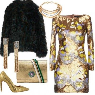 Outfit Osa con l\'oro