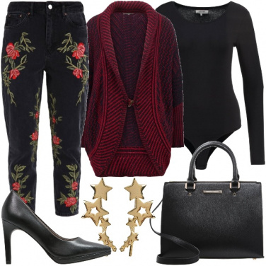 Outfit I jeans ricamati