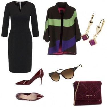 Outfit Trendy, assimetrico fantasia multicolore