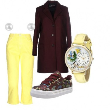 Outfit Brown and yellow