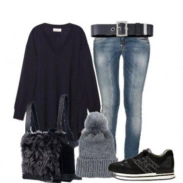 Outfit Basic con la maxi maglia