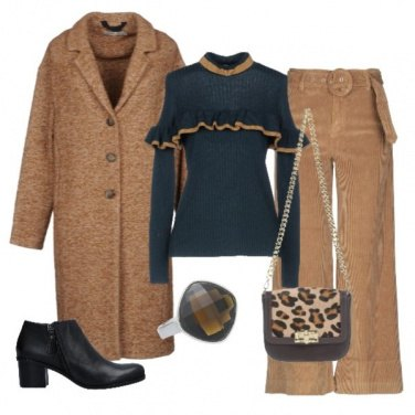 Outfit Velluto, rouches e animalier