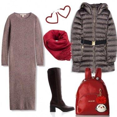 Outfit Caldi e glamour a lezione