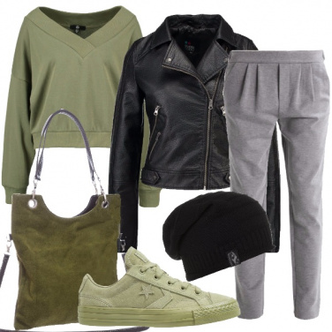 Outfit Sportiva col chiodo