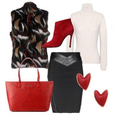 Outfit In ufficio con il rosso