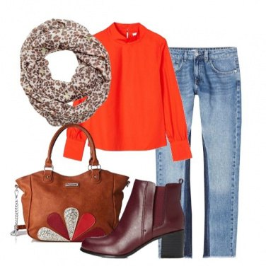 Outfit Jeans bicolor