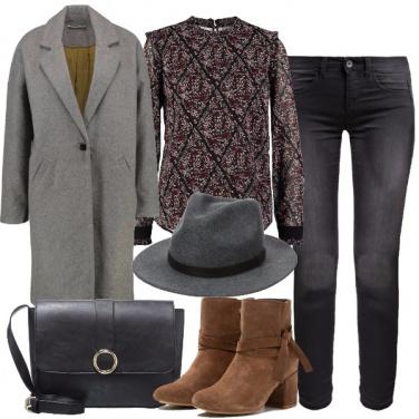 Outfit Stilosa e misteriosa