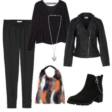 Outfit Borsa di pelliccia