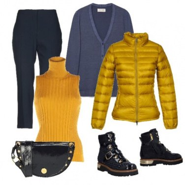 Outfit Basic Bluegold