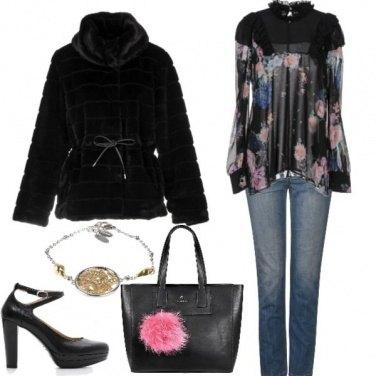 Outfit La borsa col pon pon