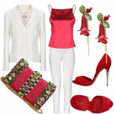 Outfit Rosso fragola