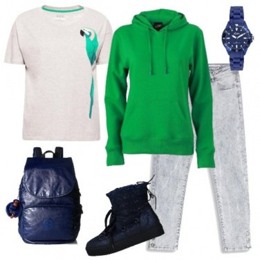 Outfit Jeans chiari