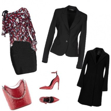 Outfit Black & Red