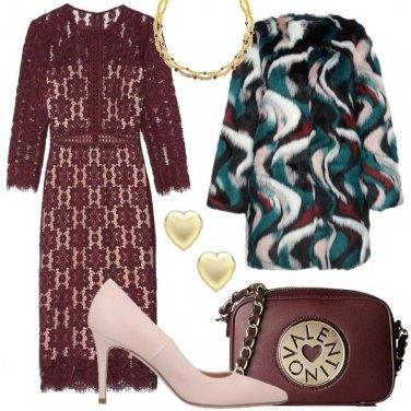 Outfit La pelliccia multicolor