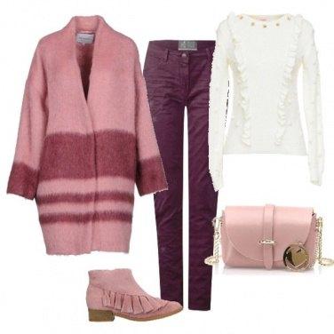 Outfit Con il rosa affronto il freddo