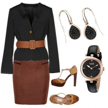 Outfit Bon ton tinte caffè
