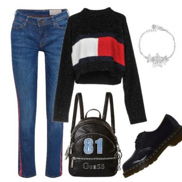 Outfit Bande rosse