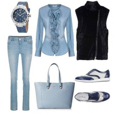 Outfit Scarpe bicolore