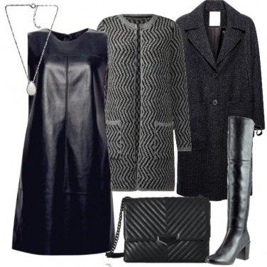 Outfit Pelle e maglia
