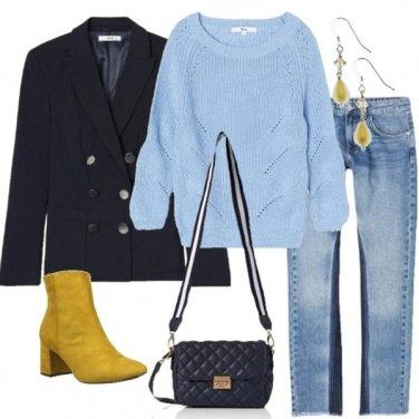 Outfit Blazer e maglioncino