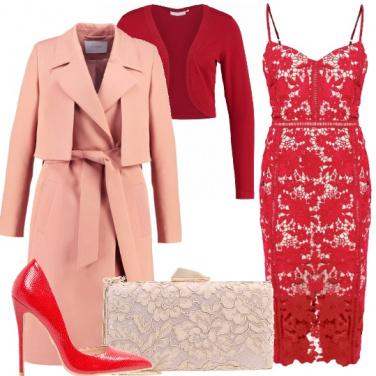 Outfit Rosso e pesca