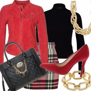 Outfit Red passion and tartan!