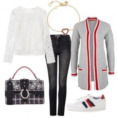Outfit Trendy elegante con il pizzo