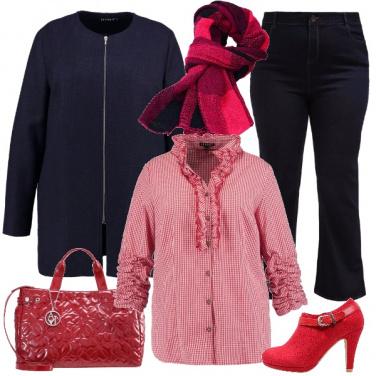 Outfit Rosso morbido