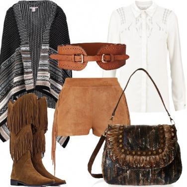 Outfit Uno stile country da città