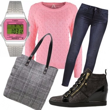 Outfit Pink university