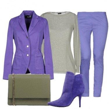Outfit V-V viola&verde