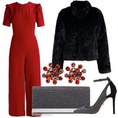 Outfit Tuta rosso fuoco