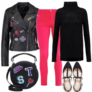 Outfit Intramontabile giacca in ecopelle