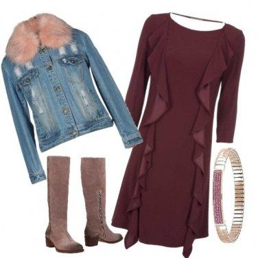 Outfit Trendy con abito classico