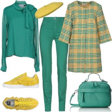 Outfit Cyber Monday in verde e giallo
