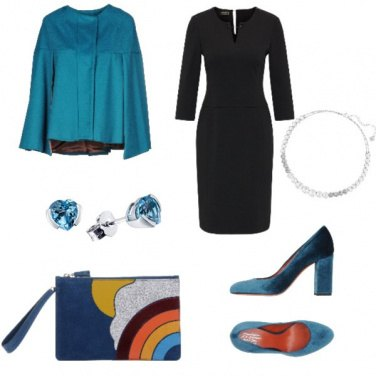 Outfit Trendy, Blu con Arcobaleno