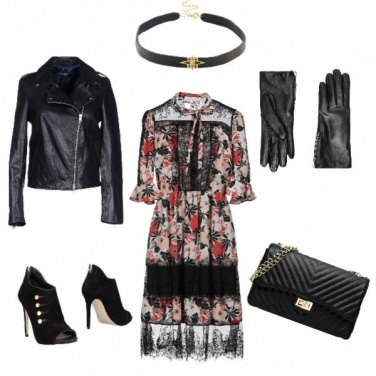 Outfit Dark flowers