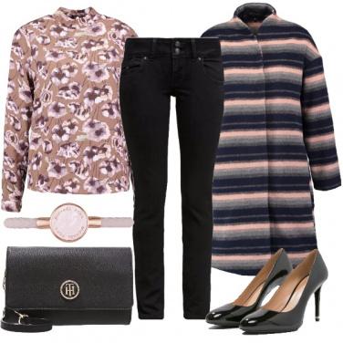 Outfit Fiori e righe di tendenza