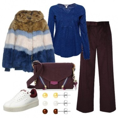 Outfit Jeans-velluto-ecopelliccia
