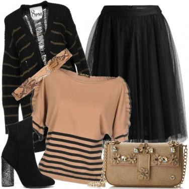 Outfit Righe e tulle