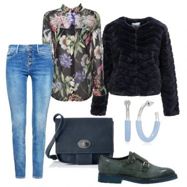 Outfit Fiori in inverno