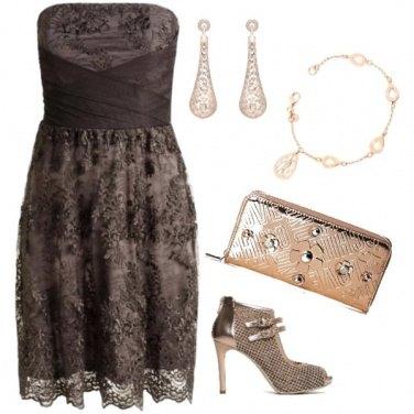 Outfit Oro e champagne