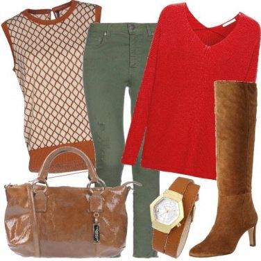 Outfit Accessori color cognac